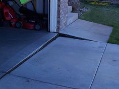 How do you repair sinking concrete slabs?