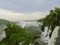 Iguazu Falls from the Upper Circuit Iguazu Falls, Niagara Falls, South America, Circuit, Waterfall, Travel, Outdoor, Outdoors, Viajes