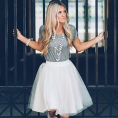 [Love Courtney Lee] champagne Ashley tulle skirt