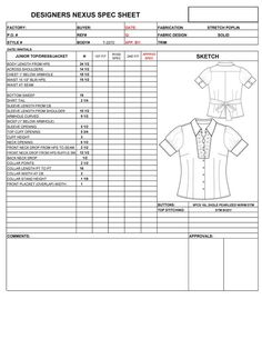 Fashion Apparel Specification Sheet Terms Tote Pattern Flats Outfits