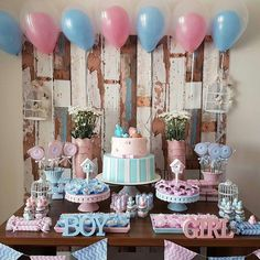 67 Best Gender Reveal Party Decorations Images Baby Shower Gender