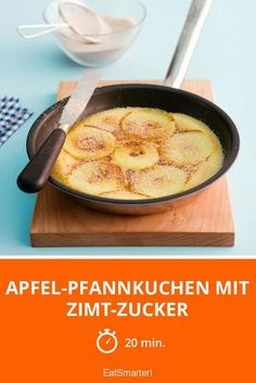 Apfel-Pfannkuchen mit Zimt-Zucker ist ein Rezept mit frischen Zutaten aus der Ka… Apple pancakes with cinnamon sugar is a recipe with fresh ingredients from the pancake category. Try this and other recipes from EAT SMARTER! Pancake Recipe With Yogurt, Best Pancake Recipe, Dessert Oreo, Dessert Recipes, Dairy Free Pancakes, Food Inspiration, Sweet Recipes, Food Porn, Food And Drink