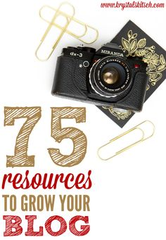 Need a blog boost? Try these blog resources to upgrade your website! 75 Blog Resources for Busy Bloggers by Krystal's Kitsch #blogging