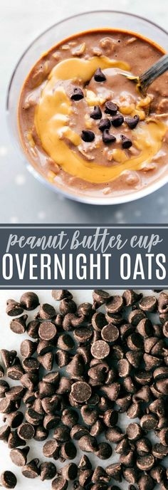 THE BEST OVERNIGHT OATS -- PEANUT BUTTER CUP FLAVORED | chelseasmessyapron.com