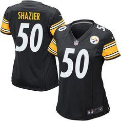 Nike Pittsburgh Steelers Women's #50 Ryan Shazier Game Black Home NFL Jersey