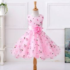 Flower Girls Dresses Kids Sleeveless Princess Dress For is cheap, come to NewChic and buy cute flower girl dresses now! Toddler Pageant Dresses, Girls Party Dress, Little Girl Dresses, Baby Dress, Girls Dresses, Dress Girl, Gown Dress, Party Dresses, Tutu Dresses