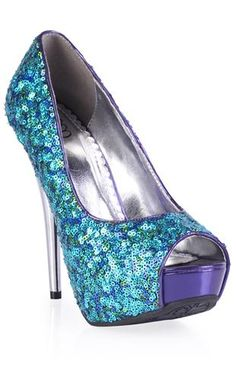 peep toe pump with sequins...perfect for New Years!! Love the color.