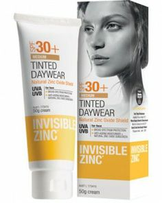 It doesn't matter where you are, you should always wear some kind of sunscreen to protect your lovely skin. Try the Invisible Zinc Tinted Daywear.