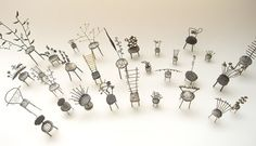 Liisa Hashimoto. Piece: Chair a day, 2010. Silver, brass, copper. 2×7 cm. Pendant top & pins.