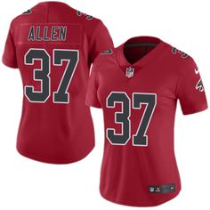 Nike Falcons  37 Ricardo Allen Red Women s Stitched NFL Limited Rush Jersey  And NFL Jerseys 272f34dac