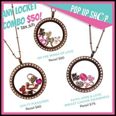 AWESOME DEAL going on right now. $50 for your choice includes locket, chain & charms!(plus tax, s/h)  charmingthebluegrass.origamiowl.com #39324