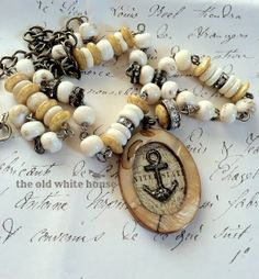 assemblage anchor necklace from the old white house