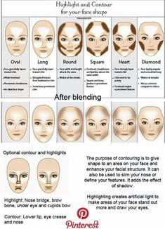 Make Up - Shaped faces: Olivia Wilde, Kirsten Dunst, Scarlett Johansson, Sarah Jessica Par. Makeup 101, Makeup Guide, Skin Makeup, Makeup Products, Makeup Inspo, Makeup Eyeshadow, Makeup List, Beauty Makeup Tips, Eyebrow Makeup