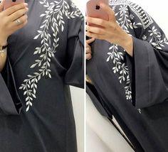 Embroidery On Kurtis, Kurti Embroidery Design, Embroidery Fashion, Hand Embroidery Designs, Abaya Designs, Blouse Designs, Anchor Pillow, Abaya Pattern, Black Abaya