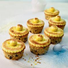 lemon simnel cupcakes
