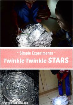 Simple Experiments: Why do stars twinkle? Find out with this awesome activity! #EDUC325