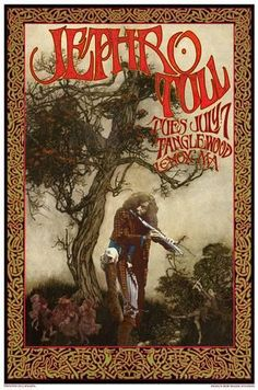size: Art Print: Jethro Tull Tanglewood concert, Lenox MA by Bob Masse : Created with high-quality printing techniques for a vivid and sharp image, this versatile art print strikes a balance…More Tour Posters, Band Posters, Music Posters, Vintage Rock, Vintage Music, Rock Festival, Vintage Concert Posters, Retro Posters, Rolling Stones