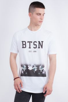 "Longline ""BTSN"" Raglan T-Shirt"