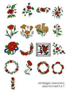 "We just launched our first deal!     Save 50% on this beautiful collection - ""Field of Poppies"" - from Sew Timeless. Get all 17 designs for just $20.00!    See all of the designs and purchase the deal here:     www.EmbroideryDailyDeals.com"