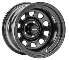 Tough, Durable, Great-Looking and at an Amazing Price! TACTIK steel wheels feature classic styling and are SAE J 2530 tested for strength and durability to endure daily use and off road abuse. 2006 Jeep Wrangler, Truck Wheels, Chrome Wheels, Futuristic Cars, Steel Wheels, Alloy Wheel, Custom Cars, Classic Cars, Strength