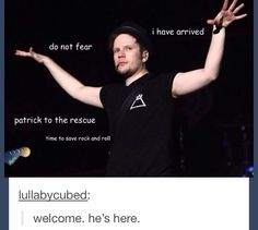 Patrick Stump is here to save rock and roll! Fall Out Boy, Emo Bands, Music Bands, Save Rock And Roll, Soul Punk, Patrick Stump, This Is A Book, Band Memes, Panic! At The Disco
