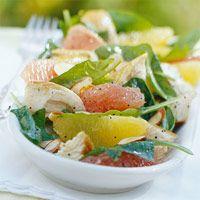 Citrus turkey spinach salad.