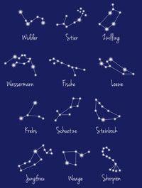 Sternbilder der Tierkreiszeichen                              …