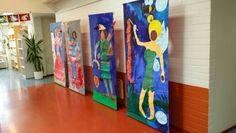 Taidekoulun näyttelystä 2014