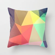 Want to start looking into getting a series of similar geometric cushions - peace Throw Pillow by Contemporary - $20.00