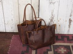 Waxed leather bags