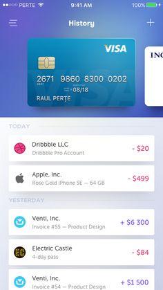 Displaying payment schedule under linked account Mobile App Design, Mobile Ui, Web Design, App Ui Design, Flat Design, Design Thinking, Card Ui, Motion Design, App Design Inspiration