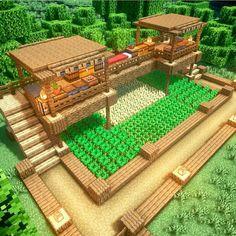 Cute Minecraft Houses, Minecraft Mansion, Minecraft Farm, Minecraft House Tutorials, Minecraft Houses Survival, Minecraft Plans, Amazing Minecraft, Minecraft Construction, Minecraft House Designs