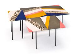 Fishbone tables by Patrici Urquiola for Moroso