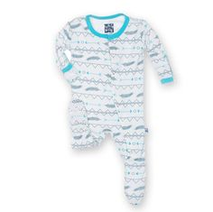 Dazzling Deserts Collection Kickee Pants Print Footie Natural Southwest Print Viscose from Bamboo Spandex Machine wash cold, gentle cycle, tumble dry low Little Boy Outfits, Toddler Outfits, Baby Boy Outfits, Kids Outfits, Newborn Boy Clothes, Cute Baby Clothes, Boys Pajamas, Kids Fashion Boy, Boys Shirts