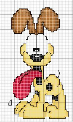 Odie Garfield hama perler beads pattern