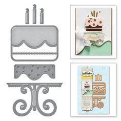 S3-225 Die D-Lites Let's Party All About Cake Etched Dies