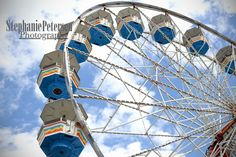 Stephanie Petersen Photography Fair Ferris Wheel #2 real color photograph. Stephanie Petersen Photography's FERRIS WHEEL midway circus photograph color C-print. Photo of a FERRIS WHEEL 2015. This is a REAL photographic print, printed on real photo paper by a printer in NYC. Final product will NOT have the STEPHANIE PETERSEN PHOTOGRAPHY watermark printed on it. Final product will NOT be framed. If you require very large images I can accommodate your needs, just ask! I do can and will print…