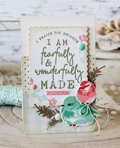 Fearfully & Wonderfully Made Card by Melissa Phillips for Papertrey Ink (January 2018)
