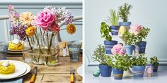 Your front door, dinner table, mantel, and walls will look ready for the holiday season with these easy DIY Easter decoration ideas to prepare your home for spring. Outdoor Table Centerpieces, Dining Room Centerpiece, Diy Easter Decorations, Centerpiece Decorations, Holiday Ornaments, Holiday Decor, Easter Table Settings, Beautiful Table Settings, Easy Diy
