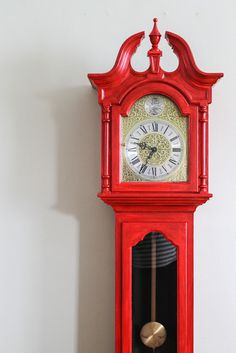 The Little Red Chair: Grandfather Clock Before&After!