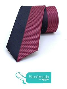 "Black and red striped men's tie 6 cm (2,36"") SL-291 from Nazo Design… #handmadeatamazon #nazodesign"
