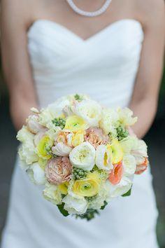 Bridesmaids wearing dresses in Sunflower