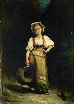 "Leon Bonnat, ""Italian Girl with a Jug,"" 1875."