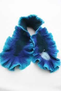 Felted scarf by Angellum1 on Etsy, $50