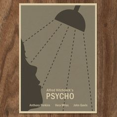 Alfred Hitchcocks PSYCHO limited edition print.    This is an original print designed by me.    Size is approximately 6 by 4.    This print is