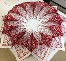 Bildresultat för fold n stitch wreath tutorial