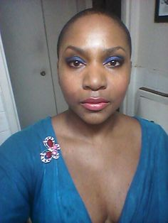Actress China L. Colstom in Blue & Pink...2014 The Bronx