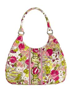 Vera Bradley Large Hobo in Make Me Blush #VeraBradley #LargeHobo--am SOOOO excited to get a bag in this pattern--and for only $29 in VB's eBay store!