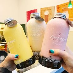 #Repost @seattle_bites I headed over to U District this week to check out @sharetea_hq's new Fruity Shake Bottles (mango emoji). They were so good! It's hard to say which was my favorite because they were all so yummy and not overly sweet. They come with mini Boba that were the perfect amount of chewiness. I also loved the packaging and the fact that you can reuse these bottles at home. I need to get another one ASAP!