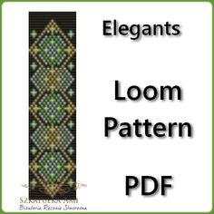 Patterns Beading Jewelry loom pattern Elegants door BeadingPattern